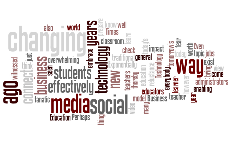 social media education wordle